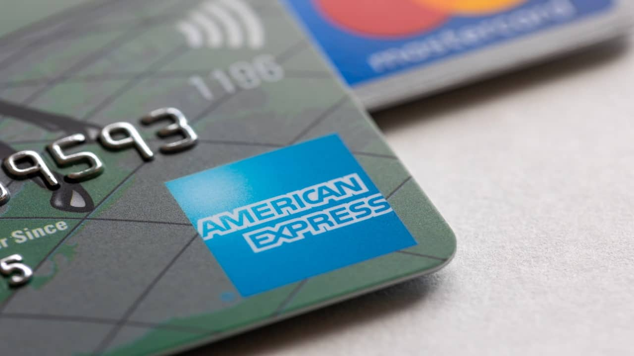 American Express credit card detail