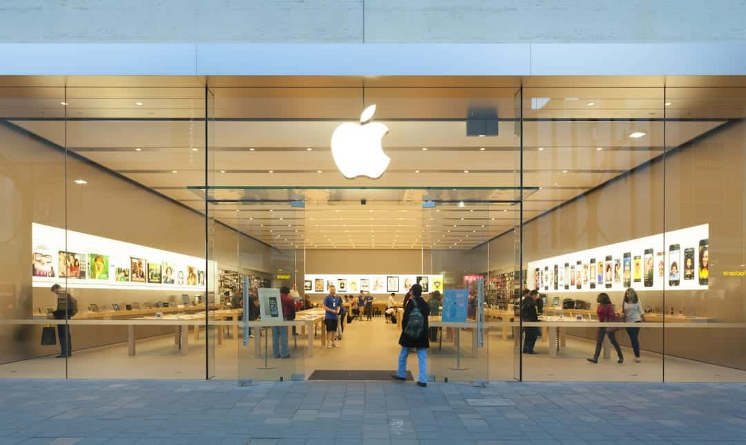 The shop window of the Apple store