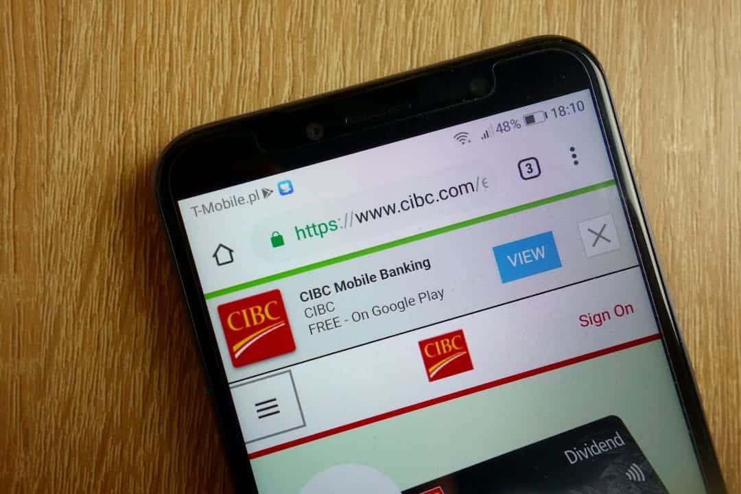 CIBS mobile app on the display