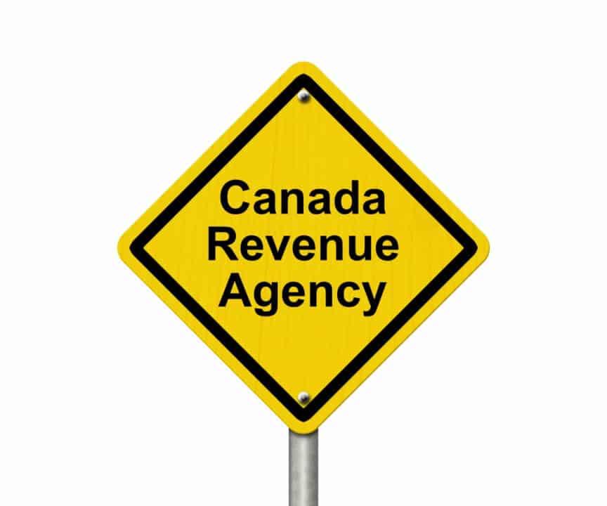 Canada Revenue Agency sign