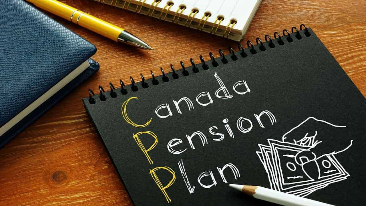 notes about Canada Pension Plan on the table