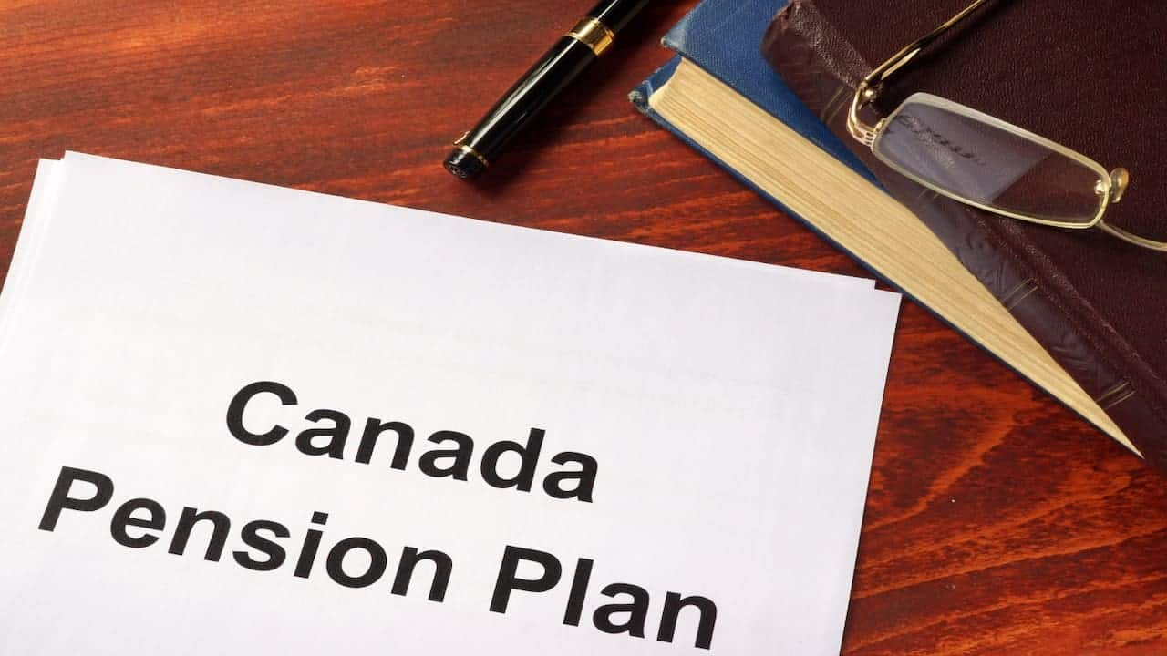 Canada Pension Plan written on the paper