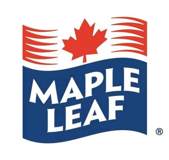 Maple Leaf blue and red company logo