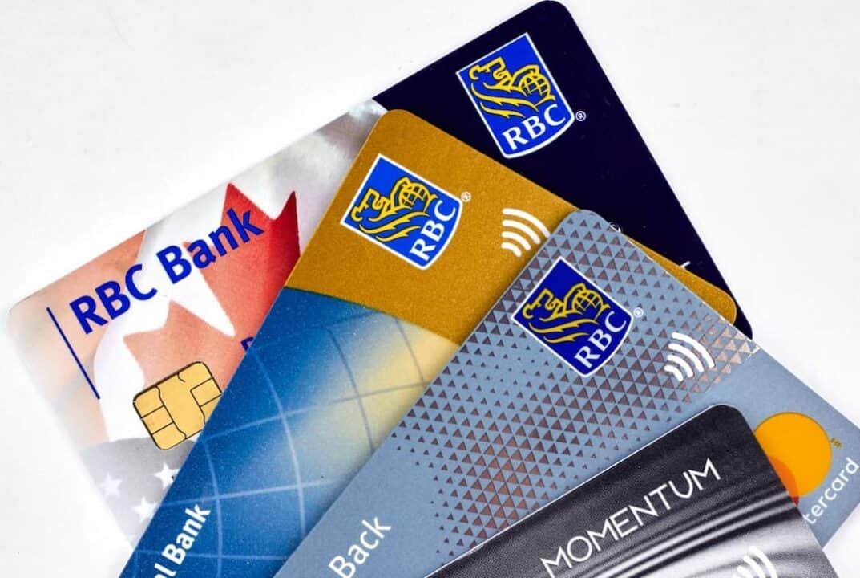 plastic cards of RBC