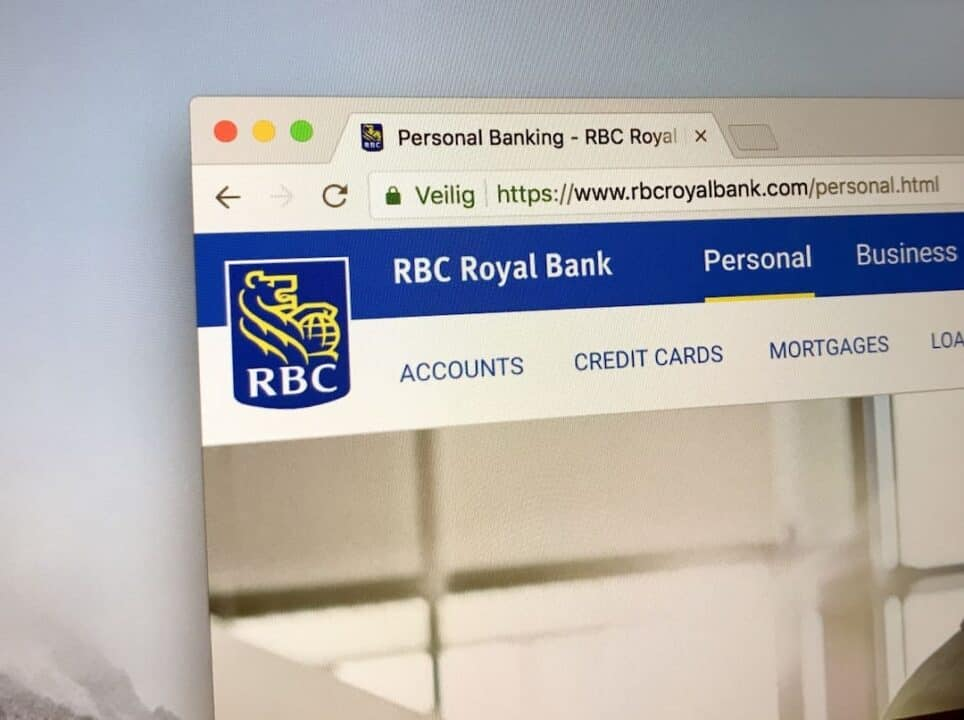 RBC web homepage screenshot