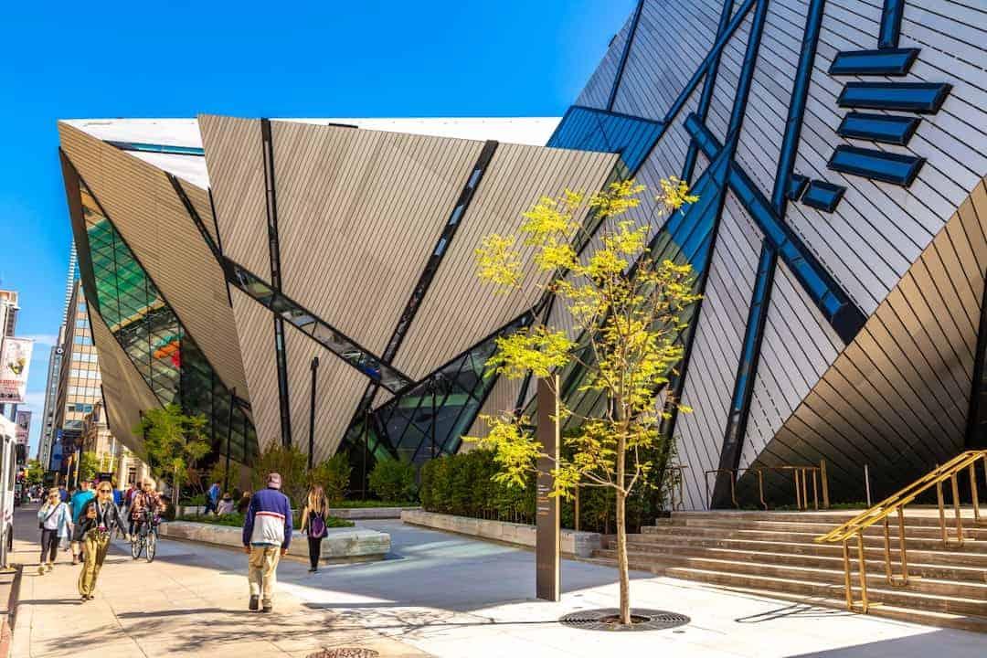 Exterior of The Royal Ontario Museum, Toronto, Canada