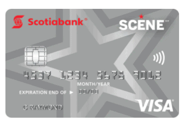 Scene Visa Card for students by Scotiabank