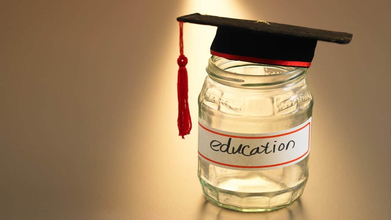 a glass jar for education saving
