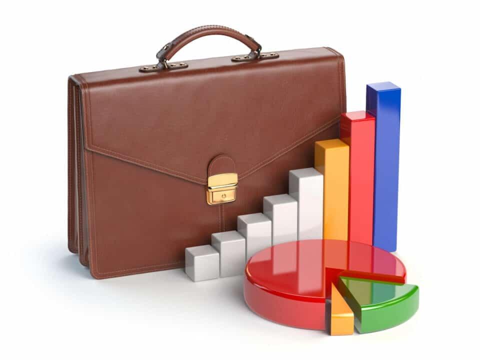 stock portfolio concept illustration
