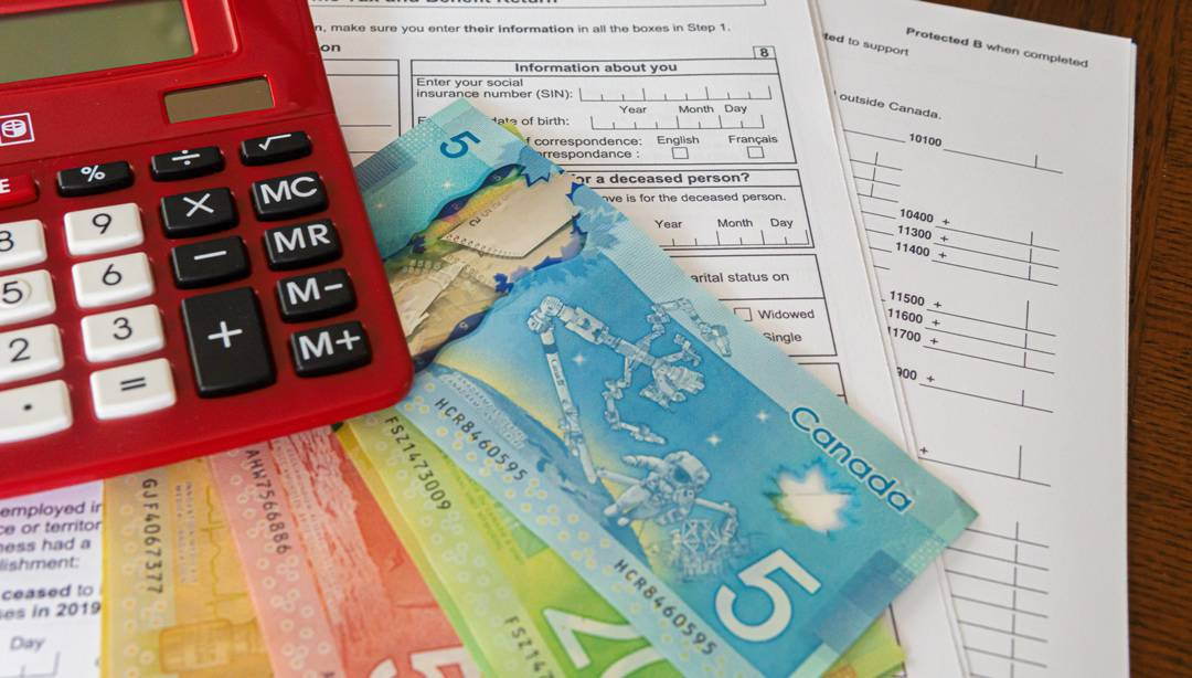 forms, calculator and money