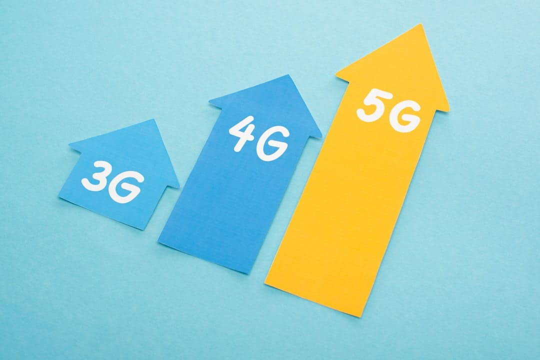 3g, 4g and 5g comparation illustration