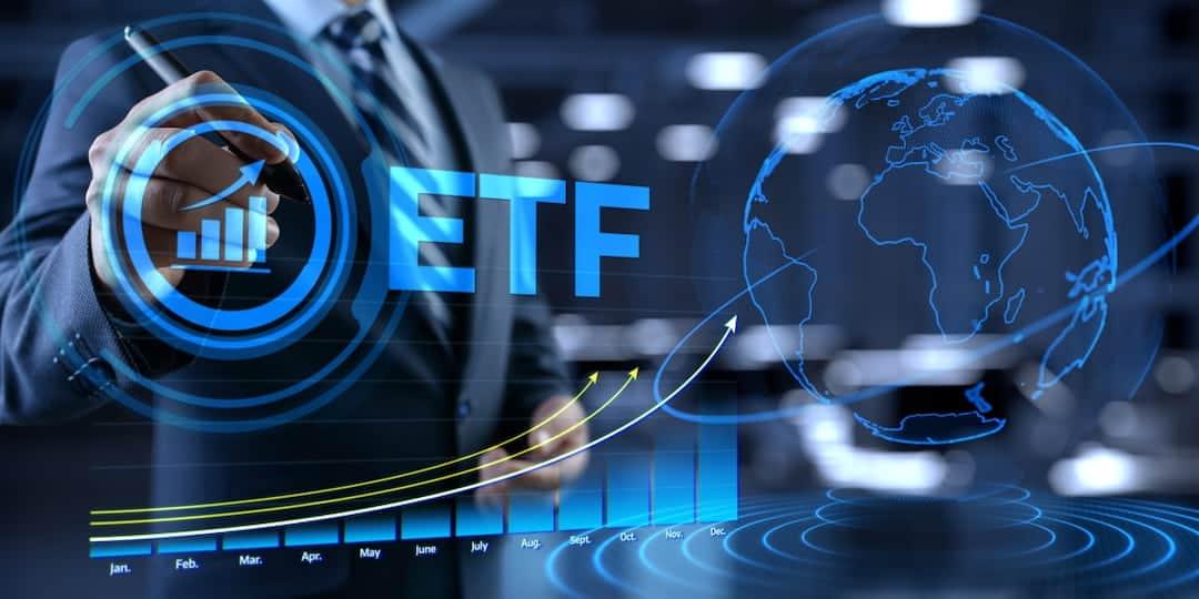 ETF trading concept illustration
