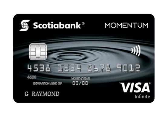 Scotiabank Momentum Visa Infinite Cash Back Card