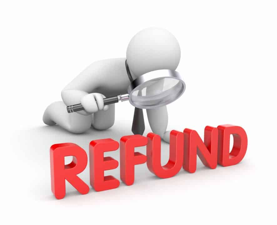 refund concept graphic illustration